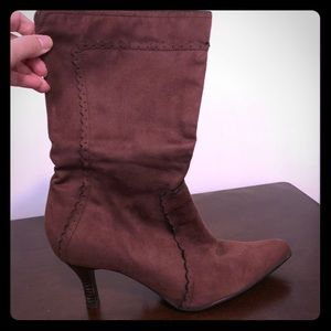 Shoes - Woman's Brown Boots, Size 8